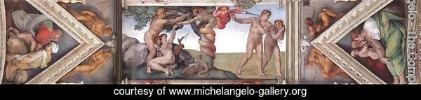 Ceiling of the Sistine Chapel - bay 4
