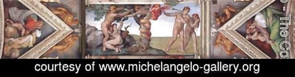 Michelangelo - Ceiling of the Sistine Chapel - bay 4