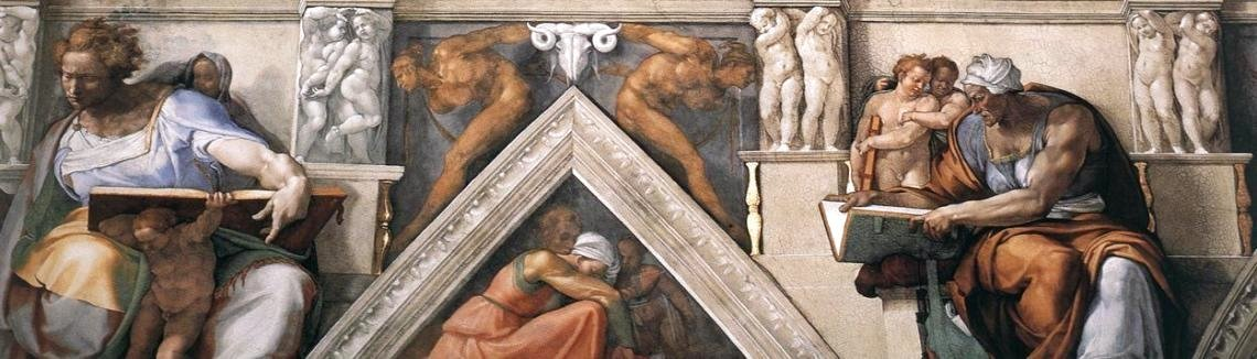 Michelangelo - Ceiling of the Sistine Chapel [detail]