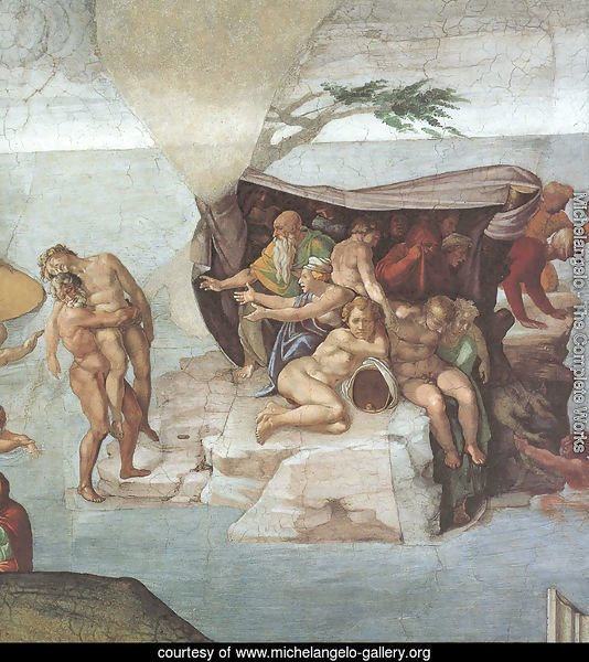 Ceiling of the Sistine Chapel: Genesis, Noah 7-9: The Flood, right view