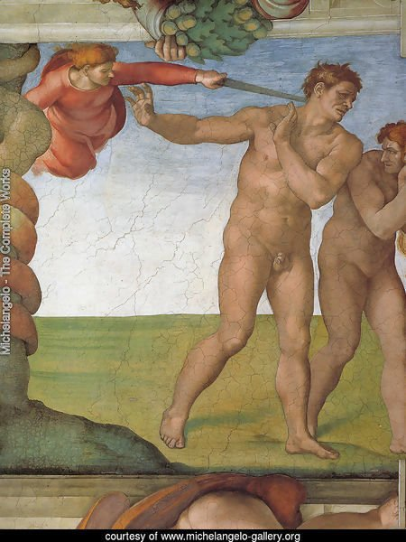 Ceiling of the Sistine Chapel: Genesis, The Fall and Expulsion from Paradise - The Expulsion