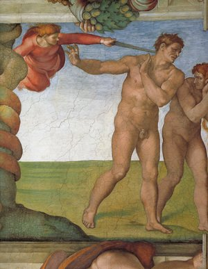 Michelangelo - Ceiling of the Sistine Chapel: Genesis, The Fall and Expulsion from Paradise - The Expulsion