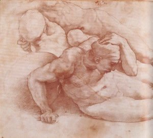 Two Figures (Study for The Last Judgement)