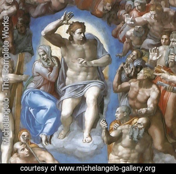Michelangelo - The Last Judgement [detail: 1]