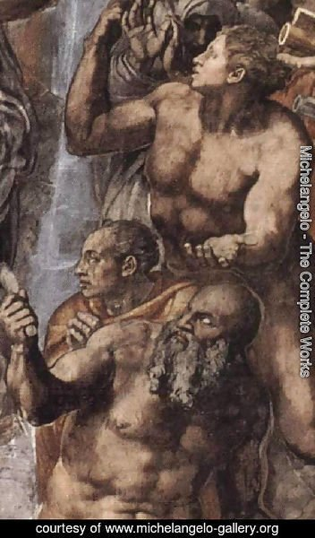 Michelangelo - The Last Judgement [detail: 2] (or Before restoration)