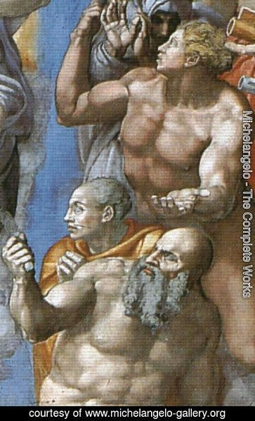 Michelangelo - The Last Judgement [detail: 2] (or After restoration)