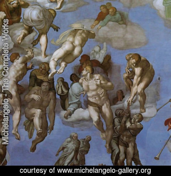 Michelangelo - The Last Judgement [detail: 3] (or After restoration)