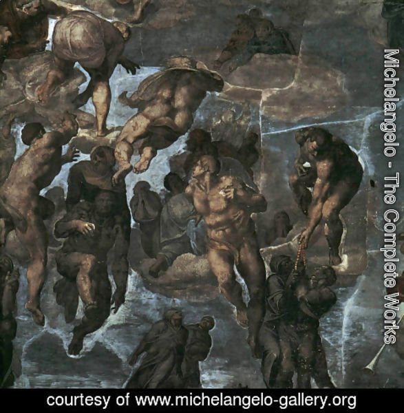 Michelangelo - The Last Judgement [detail: 3] (or Before restoration)