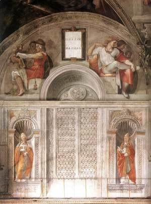 Michelangelo - Lunette and Popes, Sistine Chapel