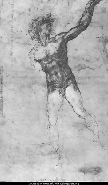 Male nude, study for the Battle of Cascina