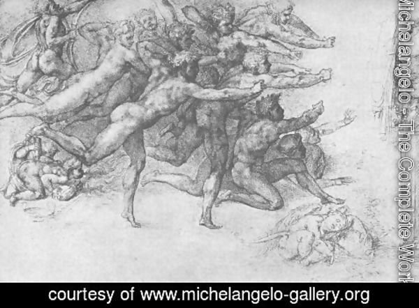 Michelangelo - Archers shooting at a Herm