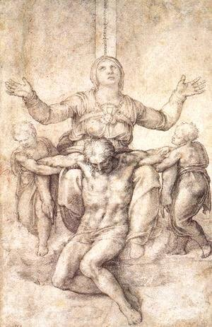 Michelangelo - Study for the Colonna Pietà