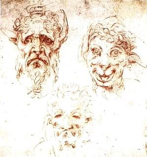 Michelangelo - Studies of Grotesques