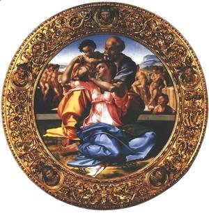 Michelangelo - Holy Family with the Infant St. John (Doni Tondo)