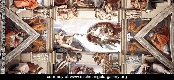 Ceiling of the Sistine Chapel [detail] I