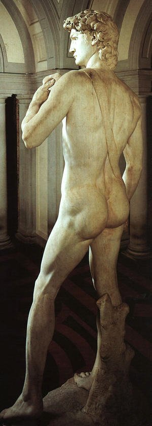 Michelangelo - David (side-rear view)