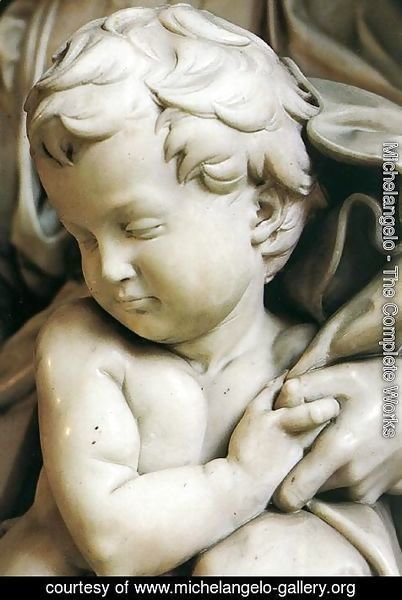 Michelangelo - Madonna and Child [detail: 2]
