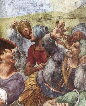 Michelangelo - The Conversion of Saul [detail] I