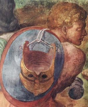 Michelangelo - The Conversion of Saul [detail] II