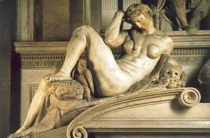 Michelangelo - Tomb of Giuliano de' Medici: Night
