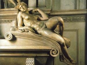 Michelangelo - Tomb of Lorenzo de' Medici: Dawn
