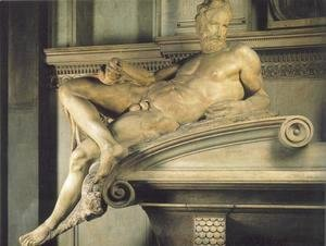Michelangelo - Tomb of Lorenzo de' Medici: Twilight