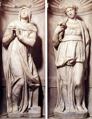 Tomb of Pope Julius II [detail] - Rachel and Leah