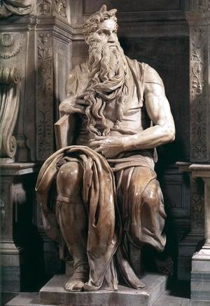 Michelangelo - Tomb of Pope Julius II: Moses