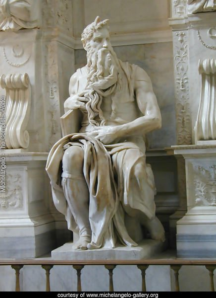 Tomb of Pope Julius II: Moses [detail: 2]