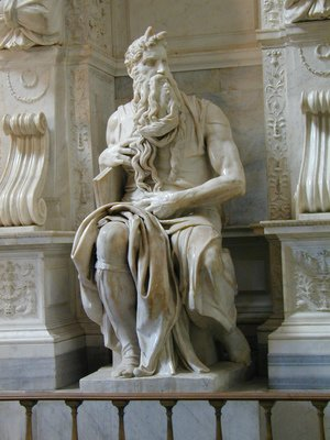 Michelangelo - Tomb of Pope Julius II: Moses [detail: 2]