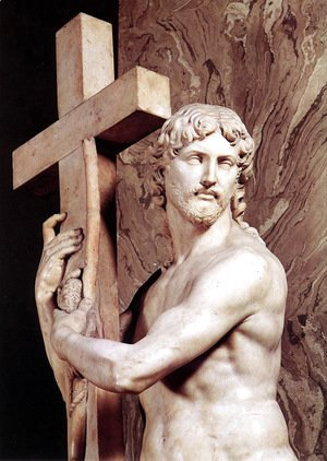 Michelangelo - Christ Carrying the Cross [detail: 1]