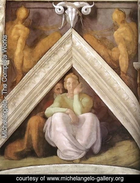 Michelangelo - Ancestors of Christ - Jesse with his parents