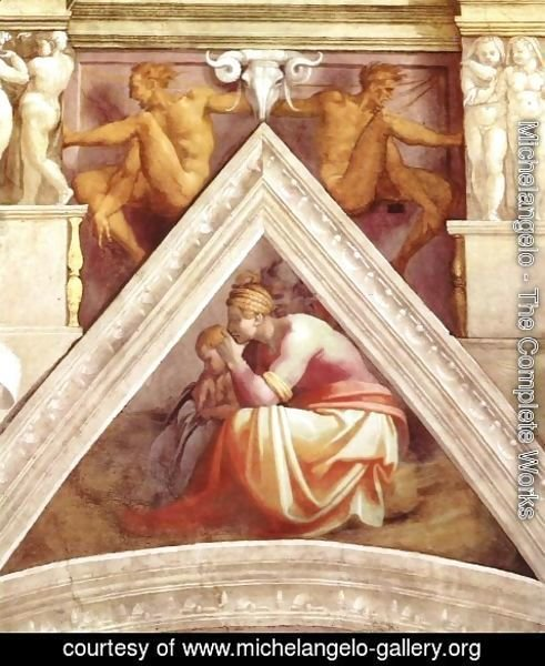 Michelangelo - Ancestors of Christ - Solomon, the father of Rehoboam