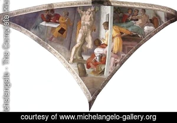 Michelangelo - Pendentive - Punishment of Haman