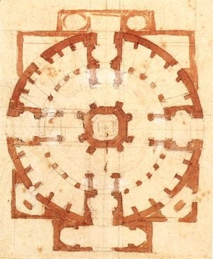 Michelangelo - Plan for a Church