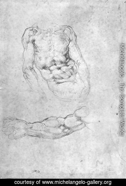 Michelangelo - Studies for Pieta or The Last Judgement