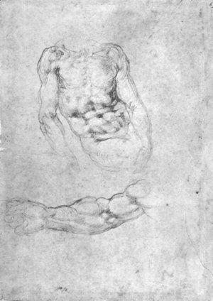 Studies for Pieta or The Last Judgement