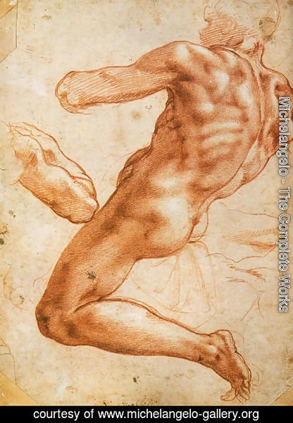 Michelangelo - Study for an ignudo
