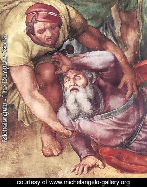 Michelangelo - The Conversion of Saul (detail)