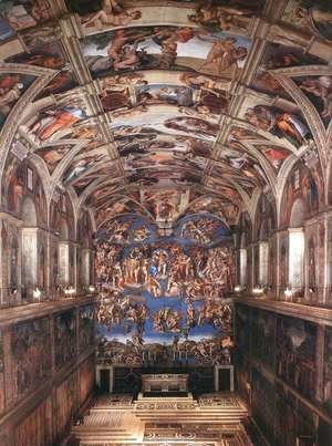 Michelangelo - Interior of the Sistine Chapel