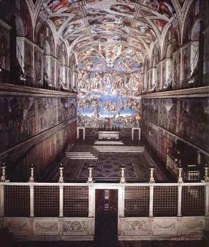 Michelangelo - Interior of the Sistine Chapel 2