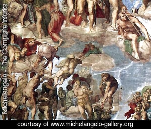 Michelangelo - Last Judgment (detail) 2