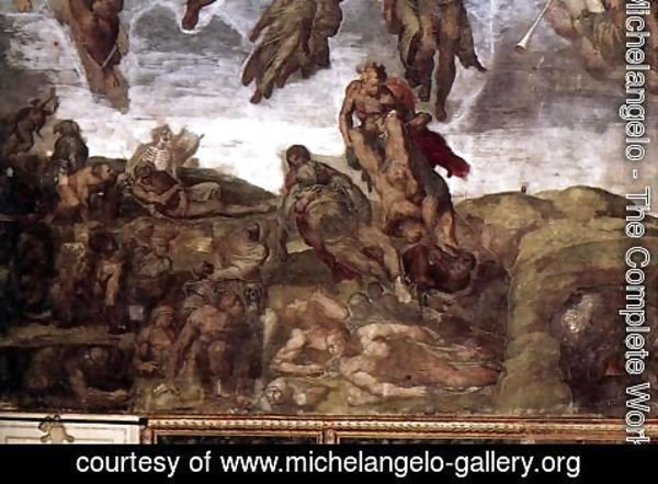Michelangelo - Last Judgment (detail) 4