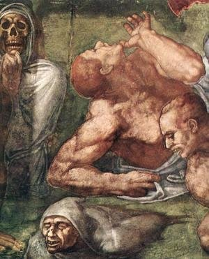 Michelangelo - Last Judgment (detail) 5