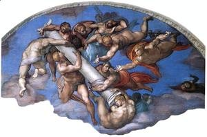Michelangelo - Last Judgment (detail) 6