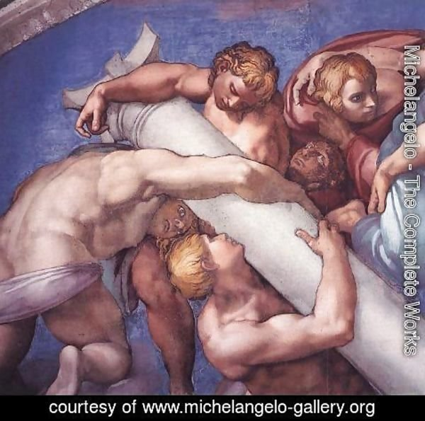 Michelangelo - Last Judgment (detail) 7