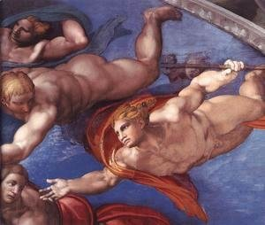Michelangelo - Last Judgment (detail) 8