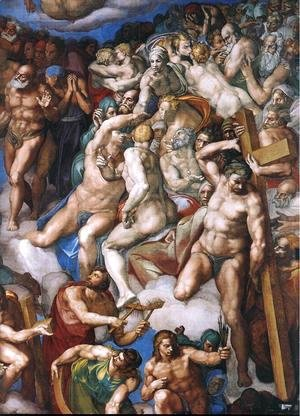 Michelangelo - Last Judgment (detail) 9
