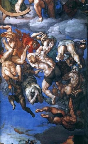 Michelangelo - Last Judgment (detail) 10