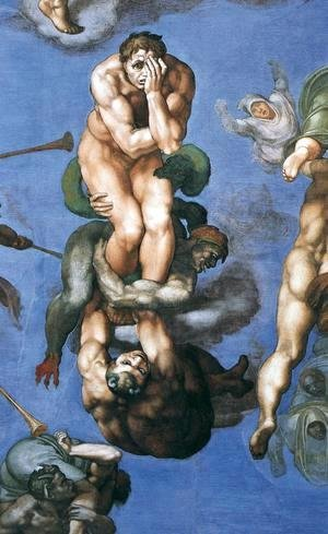 Michelangelo - Last Judgment (detail) 11